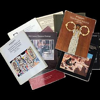 Auction Catalogs Sothebys lot of 9 1980-1989