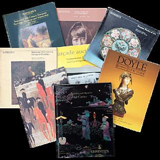 Auction Catalogs Christies Sothebys Doyle Skinner lot of 9 1980-2001