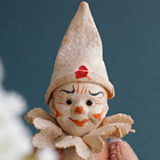 A Roly Poly Clown Jester Doll, 1910
