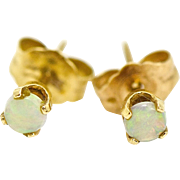 Vintage Tiny Opal Stud Earring in 14 kt gold