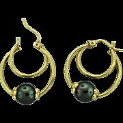 Vintage 14k Gold Hoop Earring.