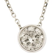 1 ct Diamond Solitaire Pendant in 14 kt Gold