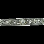 Art Nouveau Platinum Diamond Brooch