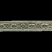 Victorian Platinum 18kt Filigree Brooch Pin