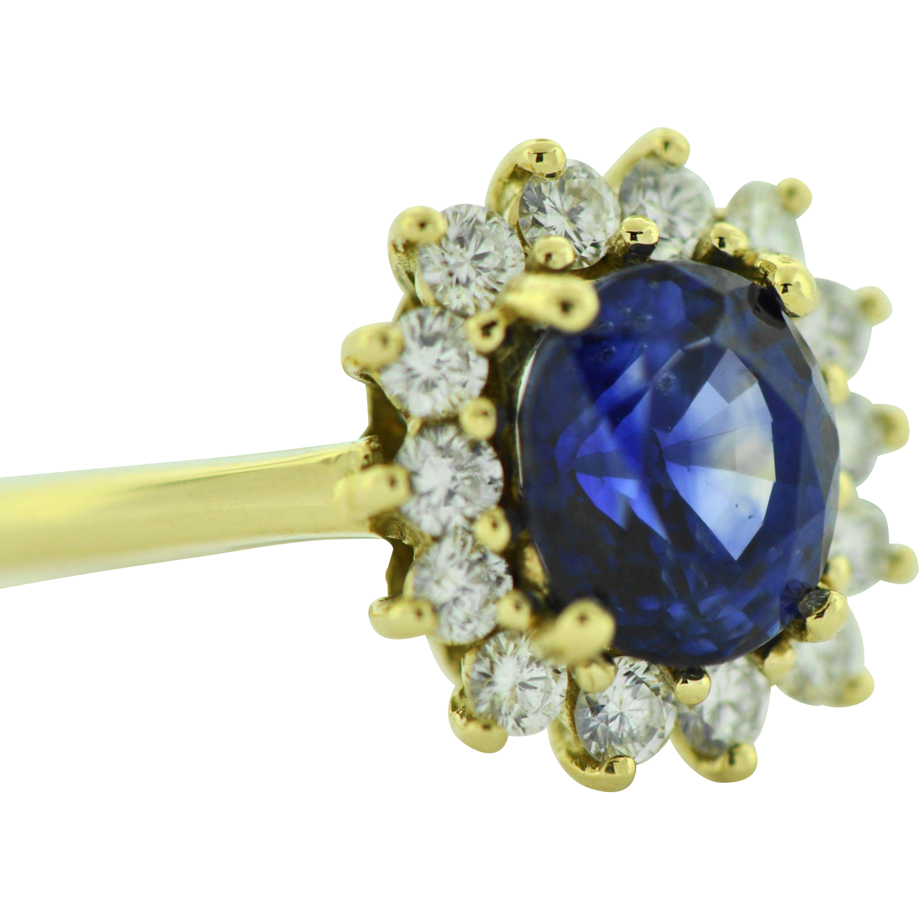 Vintage Tiffany & Co Sapphire Diamond 18k Gold Engagement Ring from capr