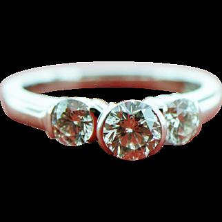 The Leo 1.25 ct Diamond 3 Stone Ring