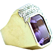 Large Diamonds & Gemstone Ring