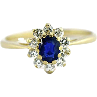 18 kt Sapphire Diamond Cocktail Ring