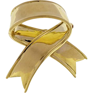 Tiffany & Co. 18K Yellow Gold Bow Brooch