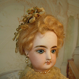 Rare ,,Wedding Lady,,F.Gaultier all original,line of moulded teeth,about 1890 paris
