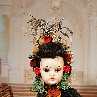 Rar Asiatic German Doll for the french market all original