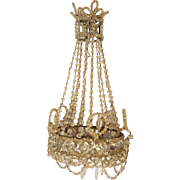 Exceptionel french crystal Chandelier  for dolls