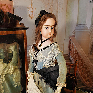 Beautiful fashion doll by Francois Gaultier in antique dress