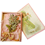 Wonderful doll,,Bunch of Flowers,, in original box  about 1900