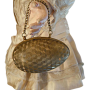 Rare Egg-Bag french from 1900  --Brass