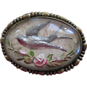Victorian Style Handmade Bird Brooch