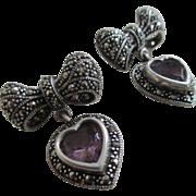Silver 925/Amethyst Post Earrings