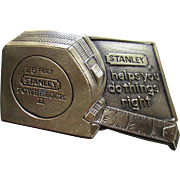 Stanley Tool Brass Belt Buckle