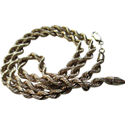14 Kt Yellow Gold Rope Chain Necklace