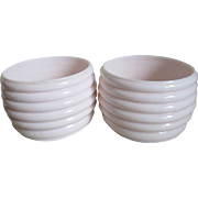 Vintage Pink Milk Glass (2) Containers