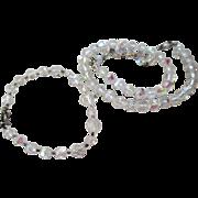 1960s Aurora Borealis (AB) Necklace and Bracelet Set