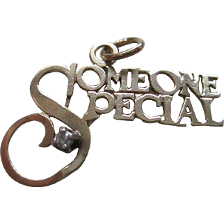 "Gold 14 KP/Diamond ""Someone Special"" Pendent or Charm"