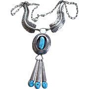Sara Chee /Navajo ArtisanTurquoise /Silver Necklace