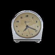 1920-1940s Art Deco Hammond Synchronous Chrome Mantel Clock