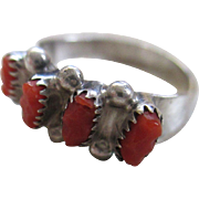 Silver 925/ Coral Ring