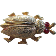 Little Red Eyed Beetle Pin
