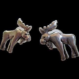 Sterling 925/ Moose Post Earrings