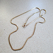 14K /585 Italy YG  Box Link Chain Necklace