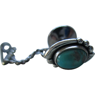 Sterling /925 Turquoise Stone Tie Tack
