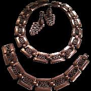Renoir- Demi Parure Set-Necklace,Bracelet.Earrings