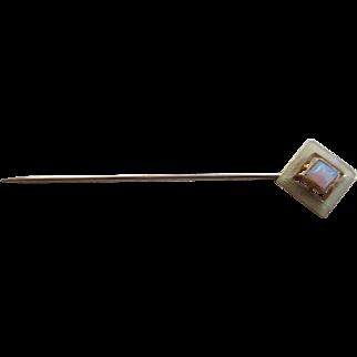 14 K Gold/Opal Stick Pin