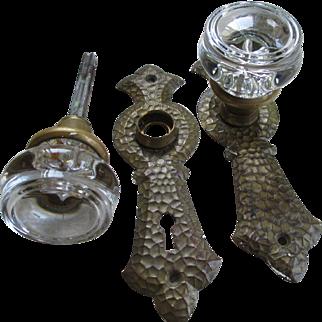 Glass /Brass Back Plates Door Knobs
