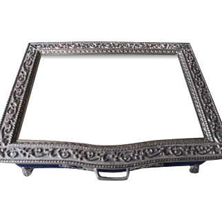 Silver 925 /Velvet/Mirror Jewelry Box