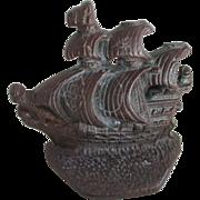 Vintage Cast Iron Ship (Wall Ornament)