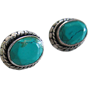 Turquoise/Silver 925 Post Earrings