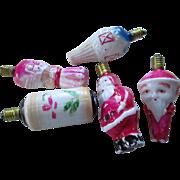 Vintage 15 W Milk Glass Christmas Bulbs