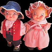 VINTAGE 1976 Campbell's Bicentennial Soup Kid Dolls-Boy-Girl