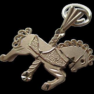 14 Kt YG -Carousel Horse Charm/Pendent