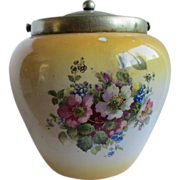 English EPNS Biscuit Jar