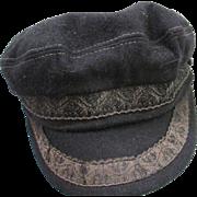 Vintage Black Greek Fisherman Cap