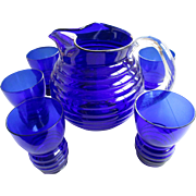 Cobalt Blue/ 7 Piece Water Set