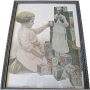 1909 Framed Cream of Wheat Picture