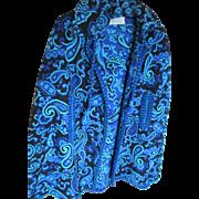 1960s Granada 100% Cotton-Blue Cape Coat/Spain
