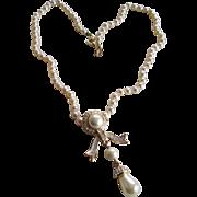 MVH (Michaela Von Habsburg) Rhinestone/Faux Pearl Necklace