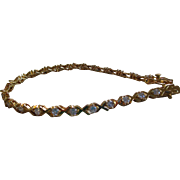 Vintage Goldtone/Rhinestone Tennis Bracelet