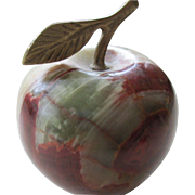 Agate- Apple shaped Paperweight